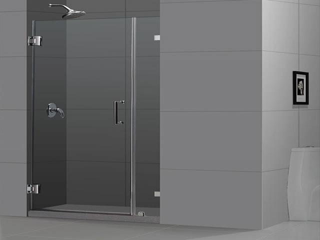 Fachada en vidrio templado tomsa - Puertas para duchas ...
