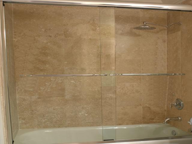 Puerta para duchas corrediza todo en acero inoxidable - Puerta corrediza para bano ...
